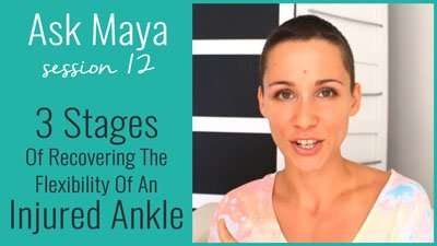3 Stages Of Recovering The Flexibility Of An Injured Ankle